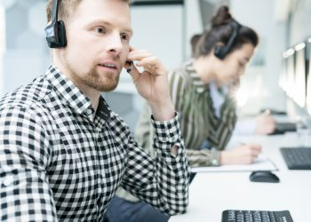 Young Customer Support Operator
